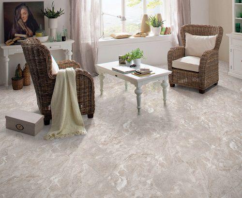 Gạch lát nền giả đá cho phòng khách