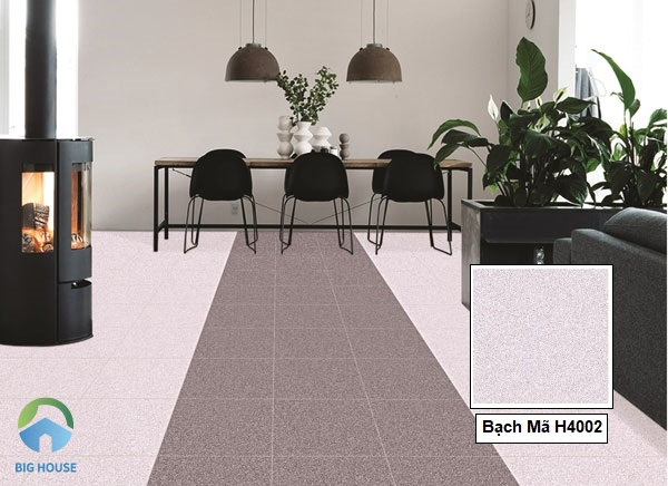 Nếu yêu thích phong cách thanh lịch, bạn có thể cân nhắc lựa chọn mẫu gạch lát nền tông pastel của gạch Bạch Mã H4002