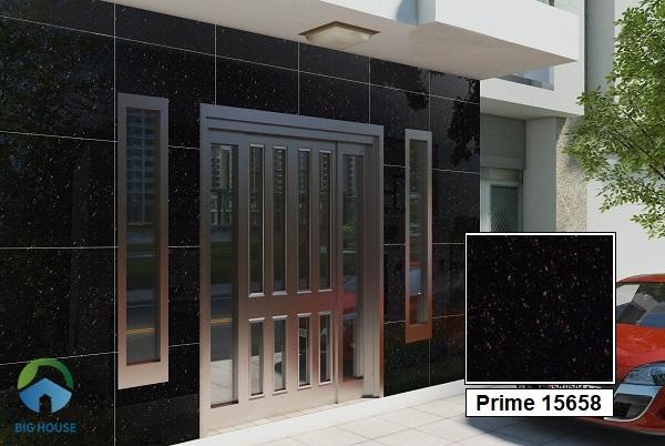 Các gia chủ rất yêu thích mẫu gạch Prime 15658 vân đá hoa cương đen nhánh. Do bề mặt gạch trơn nhẵn, bóng sáng giúp hạn chế lộ vết bẩn.