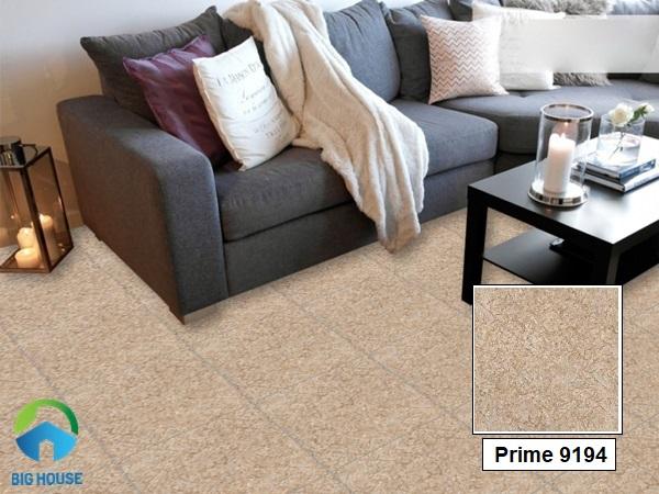 Gạch lát nền giả đá hoa cương màu nâu nhạt Prime 09194 mang đến cảm giác ấm áp cho phòng khách