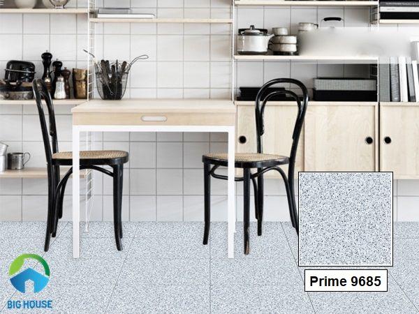 Mẫu gạch giả đá hoa cương Prime 09685 màu ghi xám cho phòng bếp ấn tượng hơn