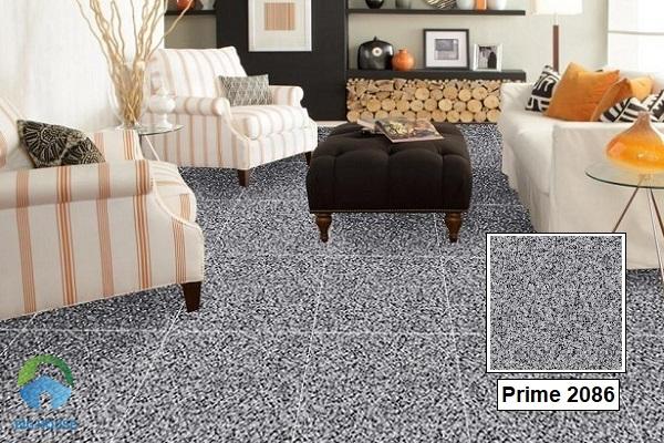 Tông màu ghi đá đậm của gạch Prime 2086 sẽ giúp cho không gian phòng khách trông ấn tượng, nổi bật hơn