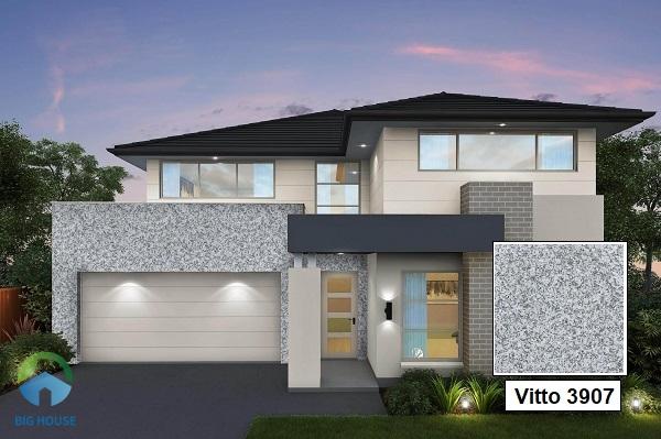 Gạch Vitto 3907 sở hữu tone màu ghi đá toát lên vẻ đẹp sang trọng và hiện đại cho không gian mặt tiền nhà bạn.