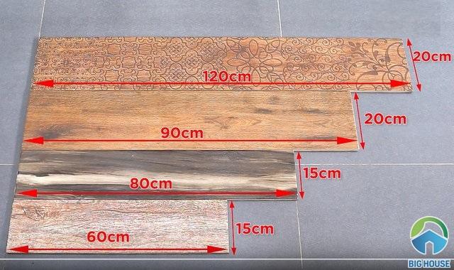 Kích thước gạch vân gỗ