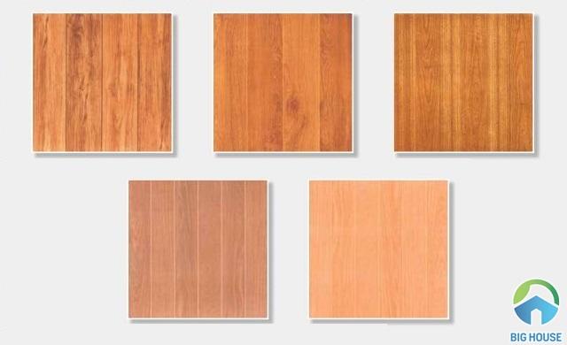 Gạch giả gỗ tông màu nóng đem lại sự ấm áp cho không gian