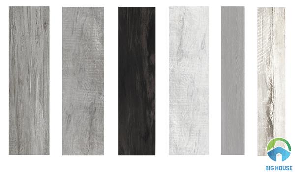 Gạch giả gỗ tông ghi xám mang đến sự ấm áp cho không gian