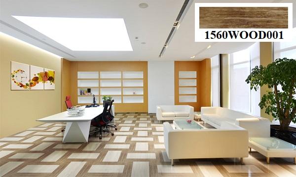 Mẫu gạch giả gỗ Đồng Tâm 1560WOOD001 men mờ chân thực, trông như sàn gỗ tự nhiên