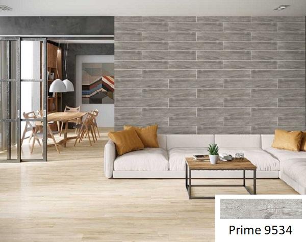 Mẫu gạch lát tường vân gỗ Prime 9534 này rất phù hợp với những gia chủ có bản mệnh Mộc
