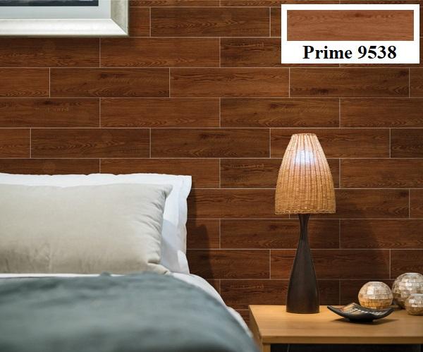 Không gian phòng ngủ trở nên ấm cúng hơn hẳn với mẫu gạch Prime vân gỗ 9538 kích thước 15x60