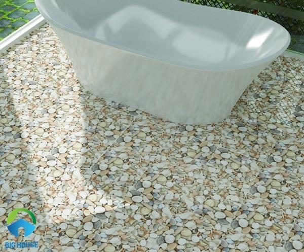 Dòng gạch này hay được sử dụng với những khu vực ẩm ướt như nhà tắm, nhà vệ sinh