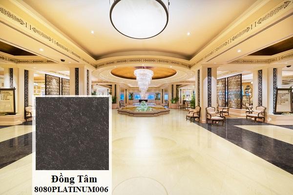 Bạn có thể tham khảo mẫu gạch granite 800x800 Đồng Tâm 8080PLATINUM006 đen vân đá mờ tạo vẻ đẹp sang trọng và đẳng cấp