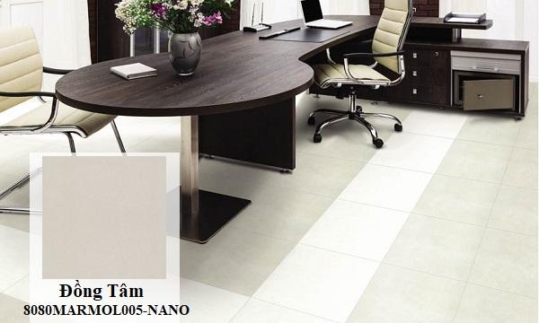 Gạch Đồng Tâm 8080MARMOL005-NANO cũng là một gợi ý hay khi chọn gạch lát nền phòng làm việc