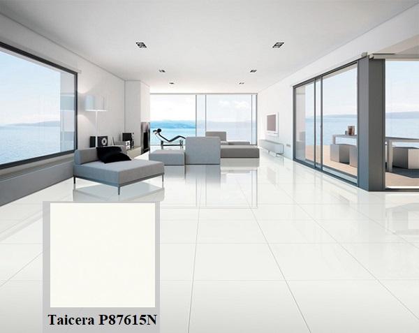 Taicera P87615N sở hữu gam màu trắng rất dễ ứng dụng trong các không gian khác nhau