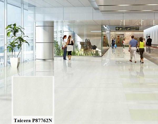 Gạch Taicera P87762N kích thước lớn với bề mặt bóng rất thích hợp lát nền tại trung tâm thương mại