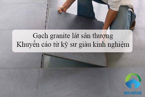 Gạch granite lát sân thượng – Khuyến cáo từ Kỹ sư giàu kinh nghiệm