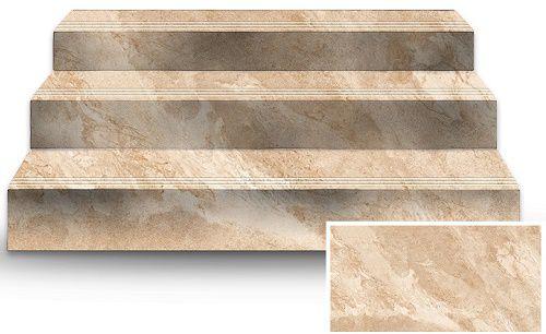 Mẫu gạch giả đá được dùng để ốp cầu thang vừa giúp tiết kiệm chi phí, vừa đẹp mắt.