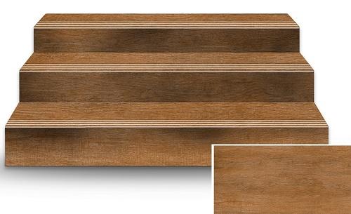 Mẫu gạch giả gỗ 60x120 được dùng để lát cầu thang
