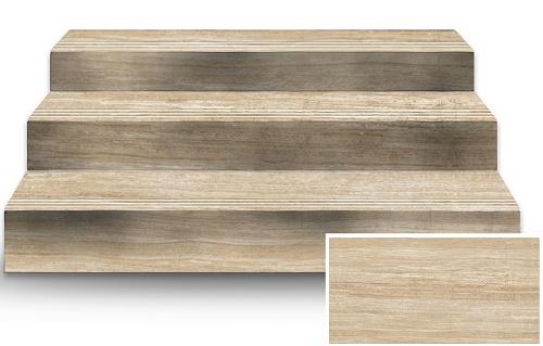 Mẫu gạch lát cầu thang giả gỗ nhẹ nhàng tinh tế