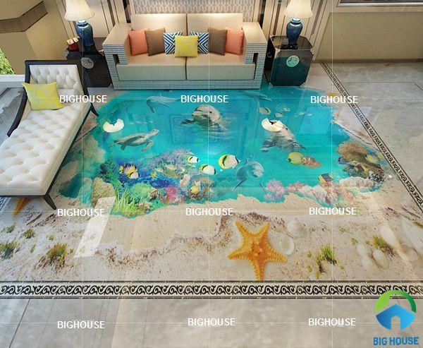 Gạch lát nền 3D đại dương mang cả đáy biển vào ngôi nhà của bạn