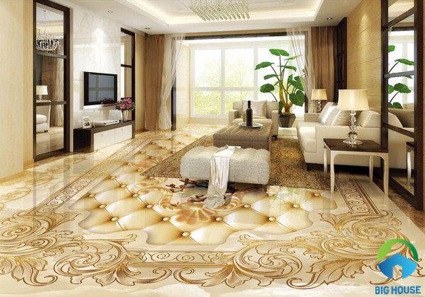 Gạch thảm 3D là lựa chọn tuyệt vời cho phòng khách