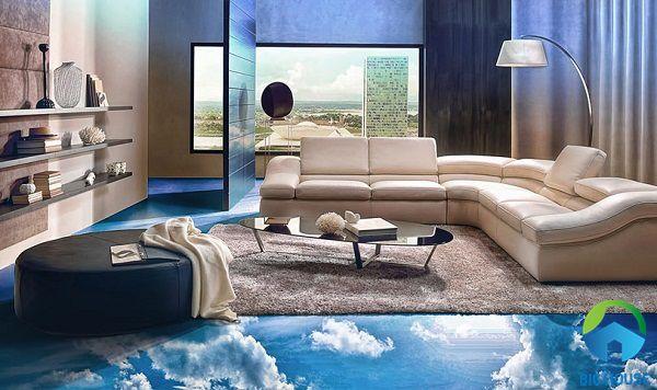 gạch lát nền 3d phòng khách chất lượng cao