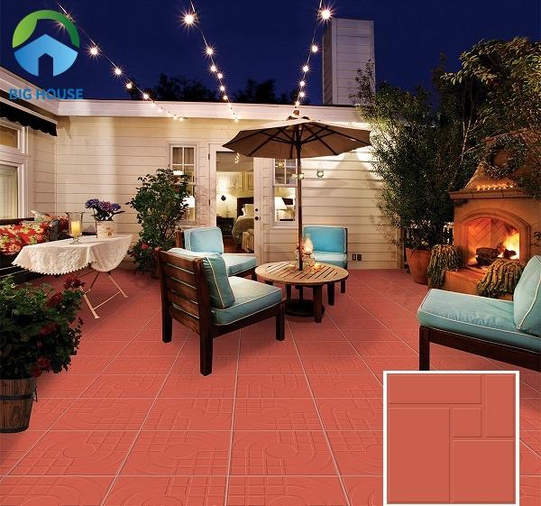 Ngoài ra, bạn có thể lựa chọn gạch lát nền màu đỏ Viglacera D408 kích thước 40x40