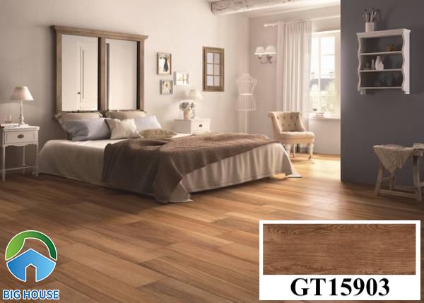 Gạch lát nền màu nâu đất vân gỗ Viglacera GT15903