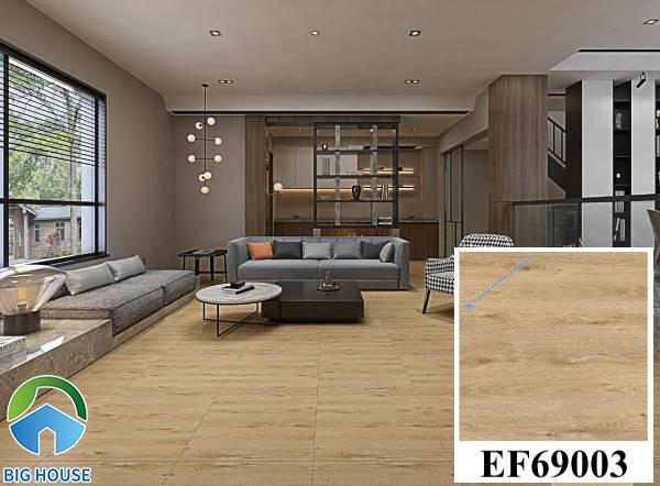 Gạch lát nền màu nâu đất vân gỗ Ý Mỹ EF69003