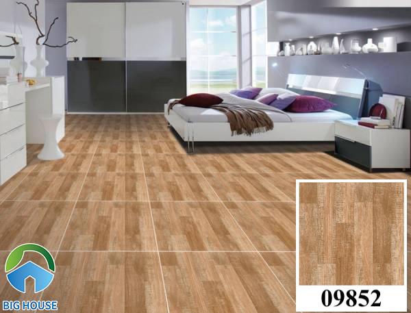 Gạch lát nền màu nâu đất vân gỗ Prime 09852