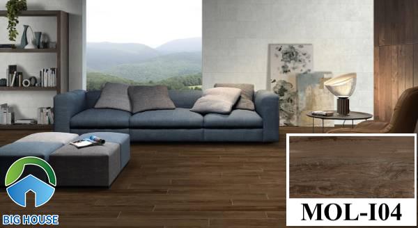 Gạch lát nền màu nâu đất vân gỗ Viglacera MOL-I04