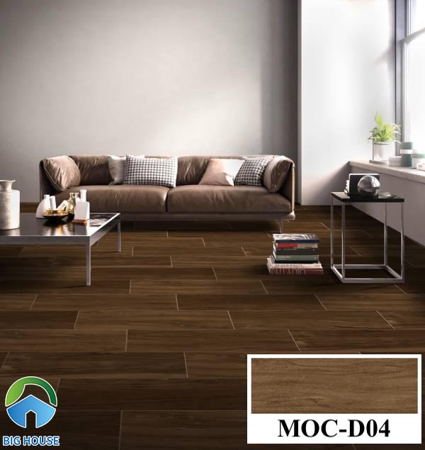 Gạch lát nền màu nâu đất vân gỗ Viglacera MOC-D04