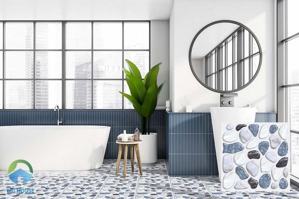 Thêm một sản phẩm gạch lát nền nhà tắm, nhà vệ sinh giả sỏi đến từ thương hiệu Ý Mỹ. Mẫu gạch YSN331SE sở hữu họa tiết giả sỏi tự nhiên, sống động y như thật. Do đó, đây là một trong những lý do chúng được ưa chuộng trên thị trường hiện nay.