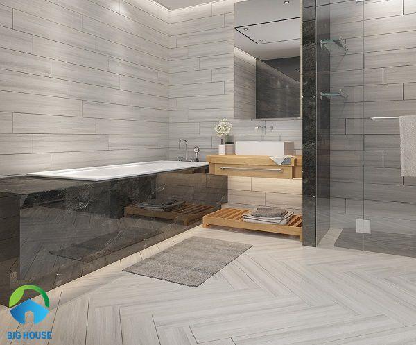 gạch lát nền nhà tắm chống trơn vân gỗ