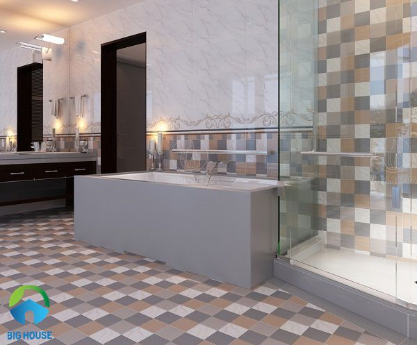 gạch lát nền nhà tắm chống trơn đẹp mắt