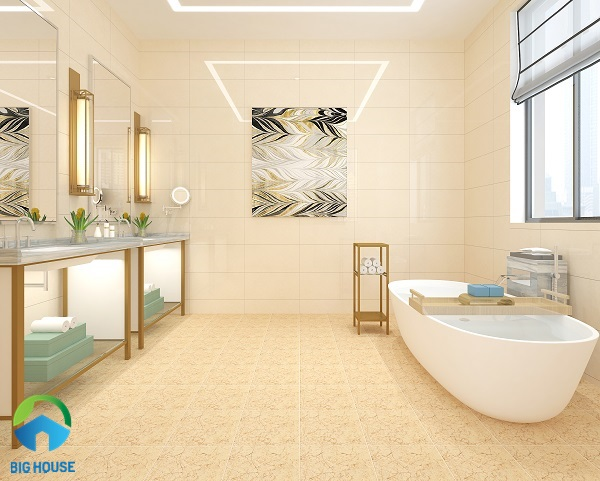 gạch lát nền nhà tắm chống trơn vân đá