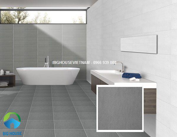 gạch lát nền nhà vệ sinh màu ghi đậm