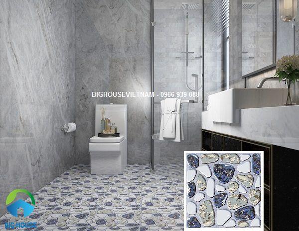 Chọn gạch định hình 3D lát nền nhà tắm giúp chống trơn