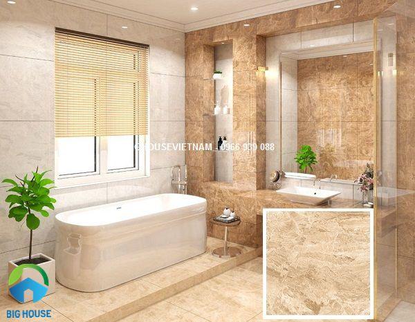 Mẫu Gạch nhà tắm vân đá tông vàng của Ấn Độ