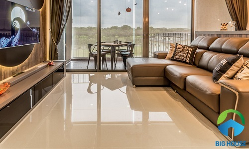 cách chọn gạch lát nền phòng khách bóng kiếng