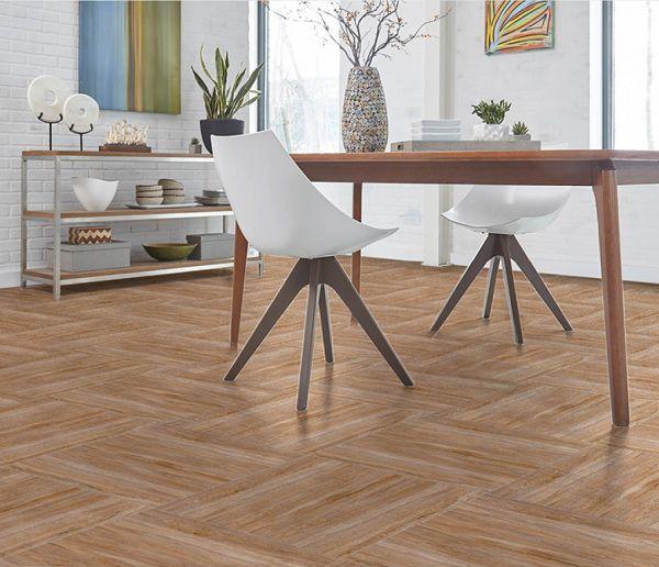 Gạch vân gỗ 60x60 phù hợp với những phòng khách có kích thước trung bình, lớn
