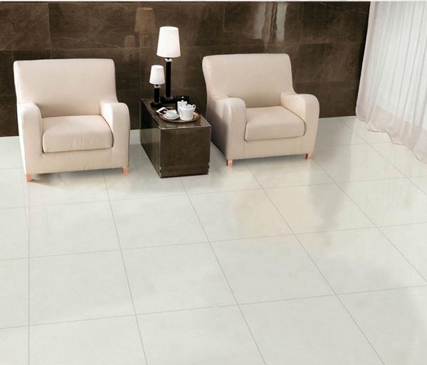 Mẫu gạch lát nền vân đá cho phòng khách mở rộng không gian hiệu quả