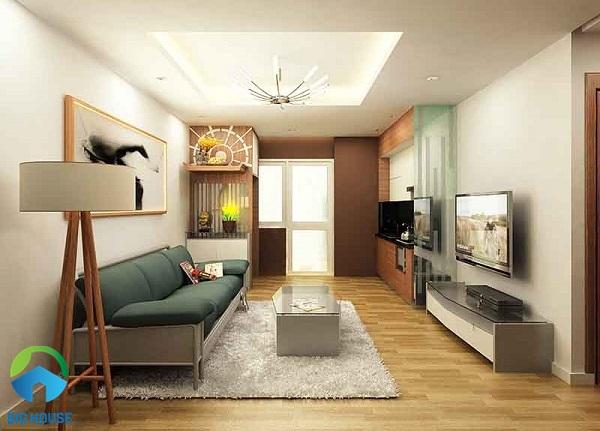 gạch lát phòng khách nhà ống vân gỗ mang đến sự sang trọng