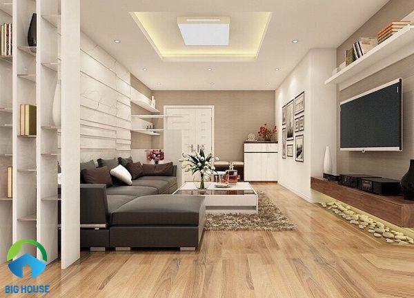 Gạch vân gỗ thanh dài mang đến sự sang trọng và vẻ đẹp tự nhiên cho phòng khách