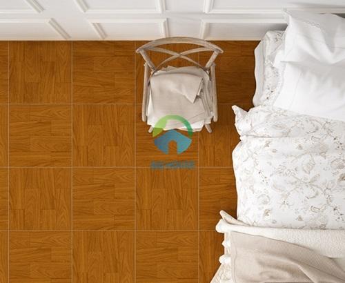 gạch lát nền phòng ngủ màu vân gỗ độc đáo