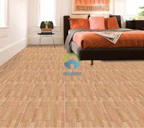 mẫu gạch lát vân gỗ cho phòng ngủ