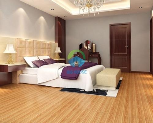 gạch lát nền phòng ngủ bóng kiếng sang trọng