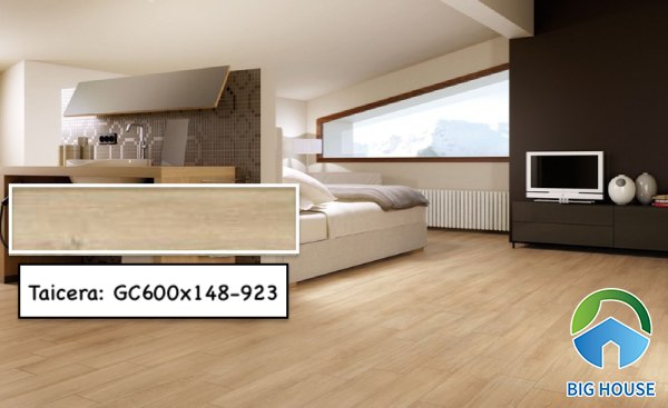 Gạch lát nền phòng ngủ Taicera GC600x148-923