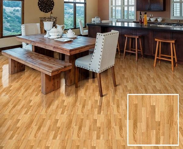 gạch lát nền vân gỗ nhà bếp