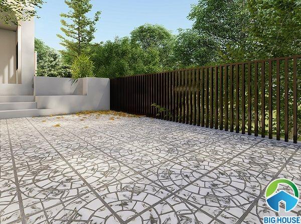 Với khả năng chống trơn cao, gạch lót nền sân được sử dụng tại rất nhiều công trình Việt