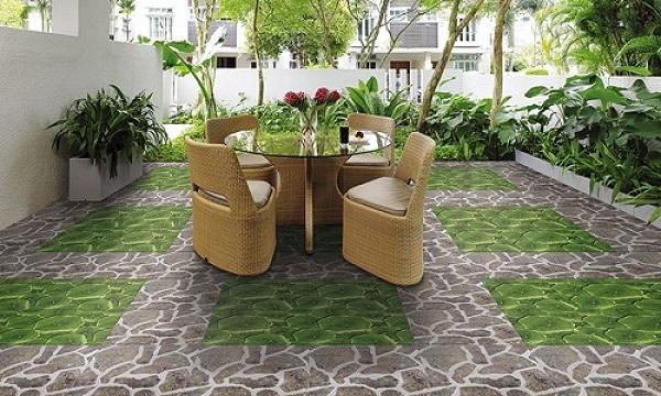 Sân vườn là một trong những không gian hay sử dụng gạch lát nền 40x40 nhất
